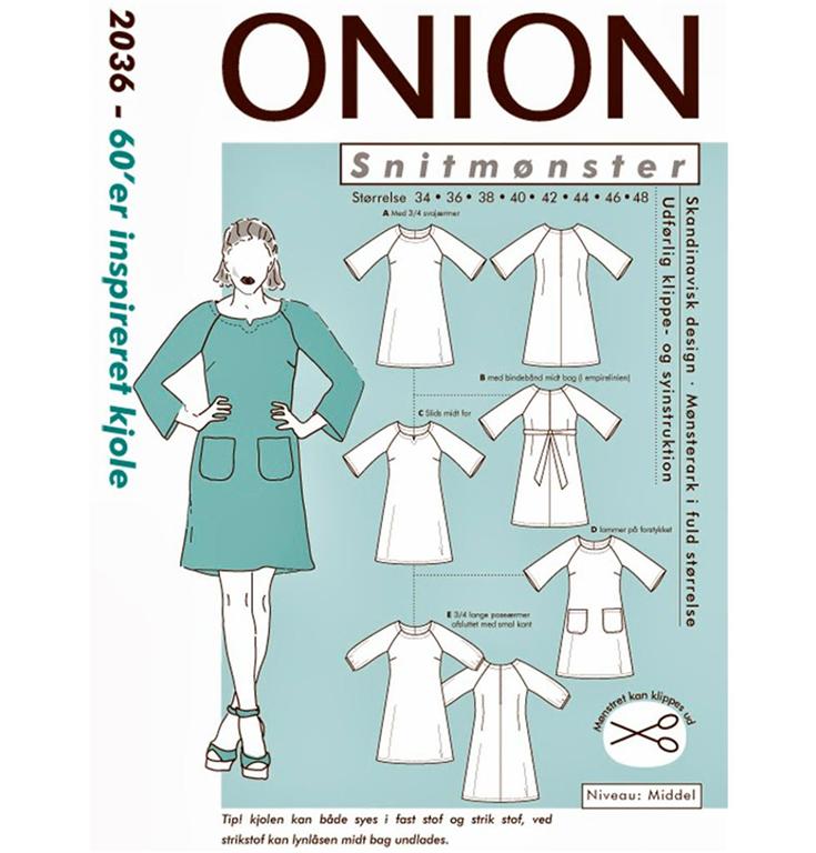413ea984 Onion 2036 - 60'er inspireret kjole - Snitmønster - Køb her
