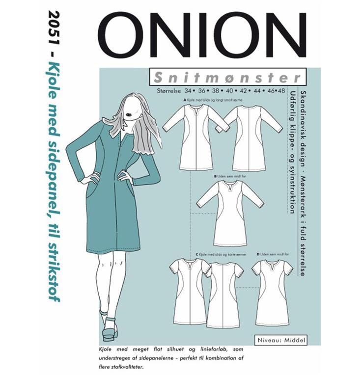 feb8067c Onion 2051 kjole med sidepanel - Snitmønster - Køb det her