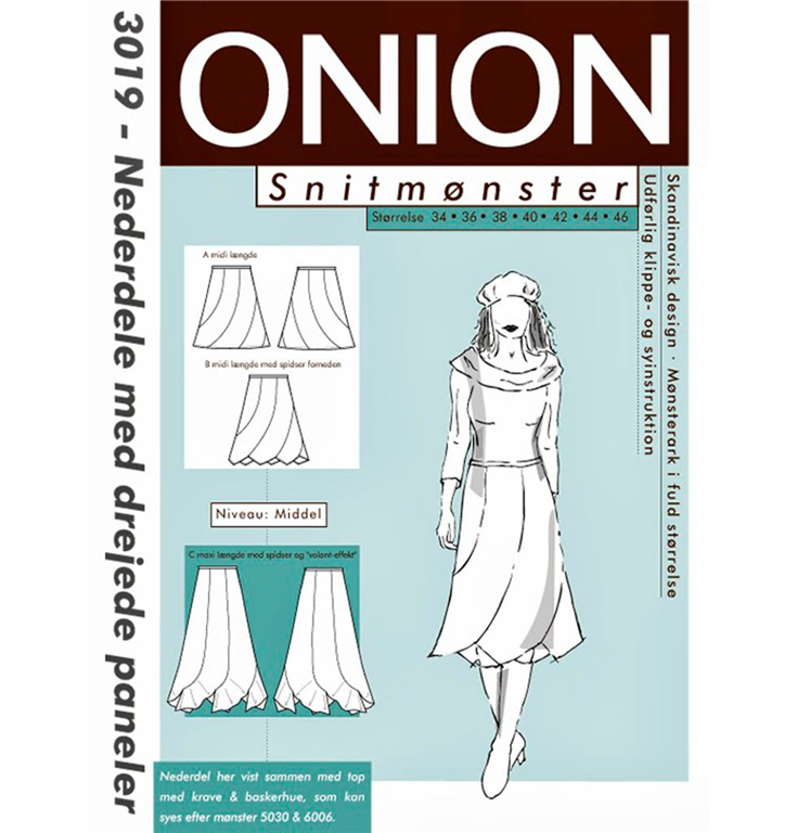 Onion snitmønster nr. 3019 StofGiganten.dk