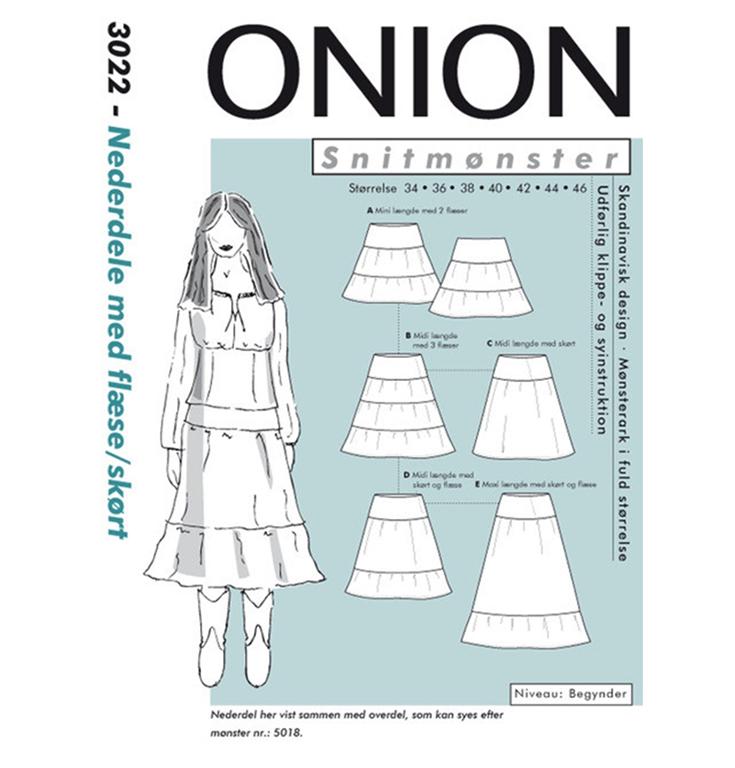 Onion 3022, nederdele med flæse og skørt Stofgiganten.dk