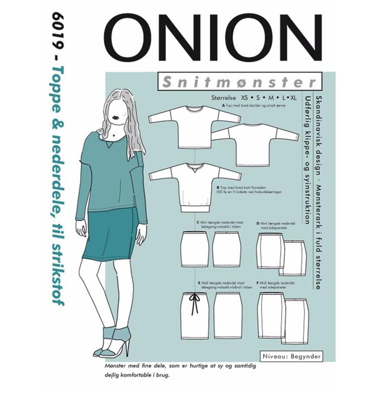 Onion 6019 Toppe og nederdele til strik stof Køb det her