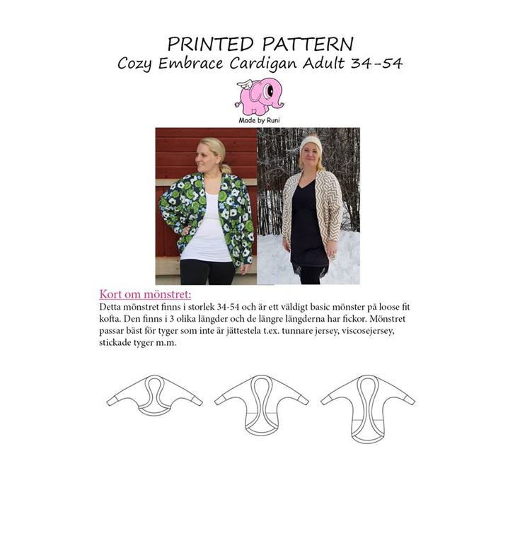Made by Runi Snitmønster Cozy embrace cardigan </p>                     </div>   <!--bof Product URL --> <!--eof Product URL --> <!--bof Quantity Discounts table --> <!--eof Quantity Discounts table --> </div>                        </dd> <dt class=