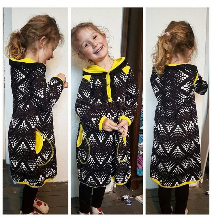 309909f105cb Made by Runi snitmønster - Raglan dress with a twist - Børn