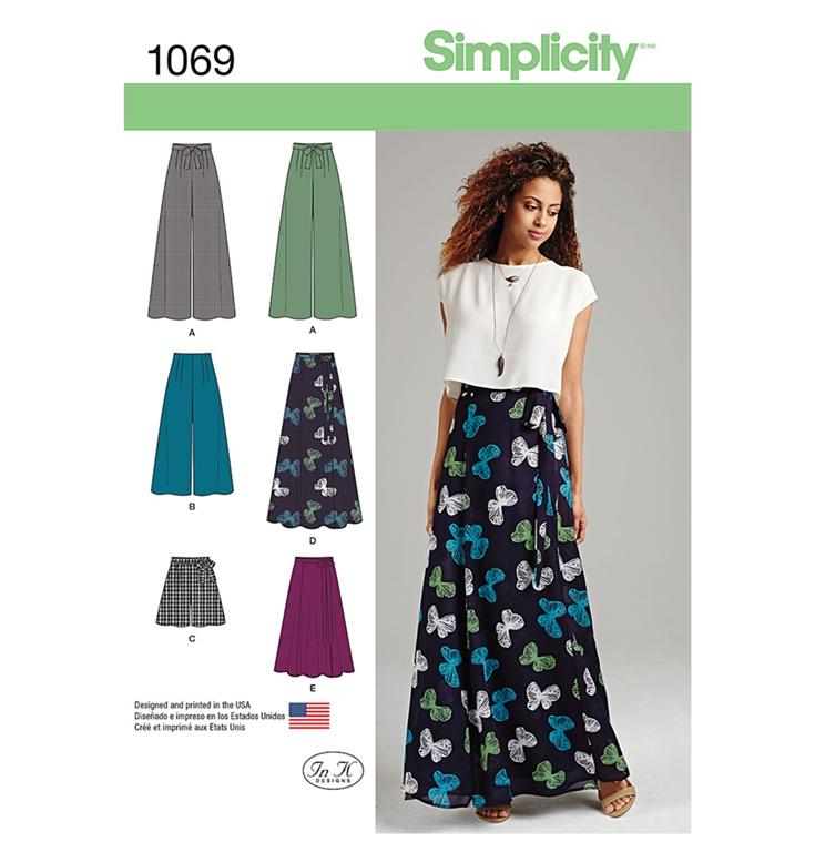 Simplicity 1069P5 buks, shorts, nederdel med 5 variationer.