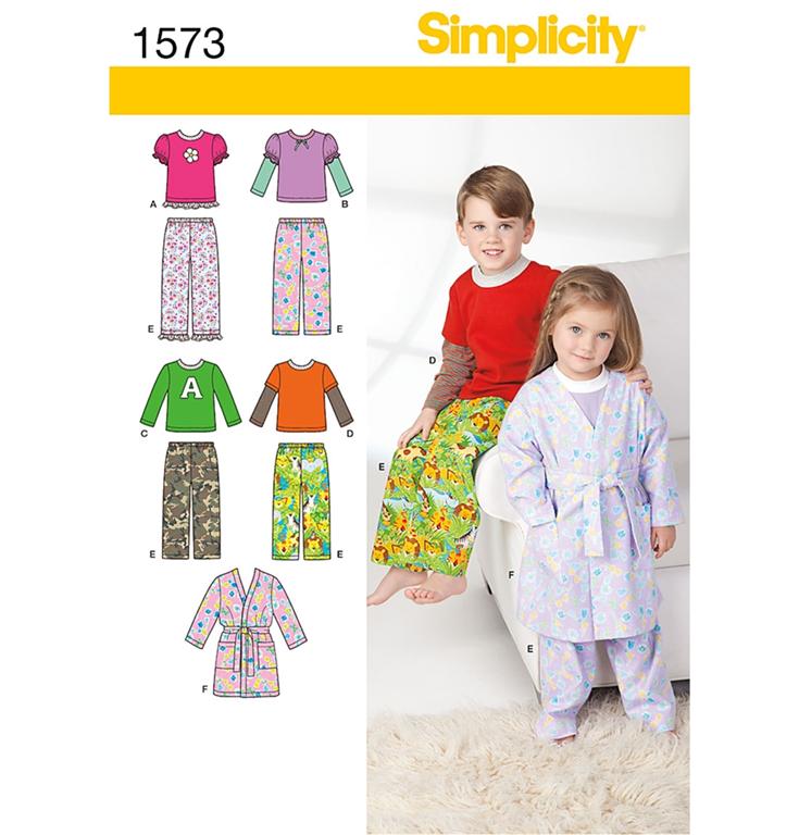a63627de4 Simplicity 1573AA - morgenkåbe, buks, top, bluse med 6 variationer.