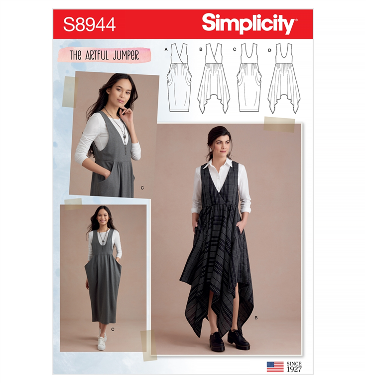 Simplicity S9015R5 frakke med 3 variationer.