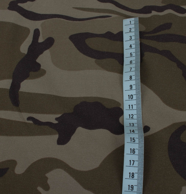 camouflage stof i metermål